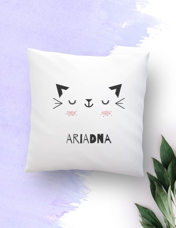pillow, cojín, baby, kids, deco, cojín personalizado, animal lovers, gatete, gato, cat