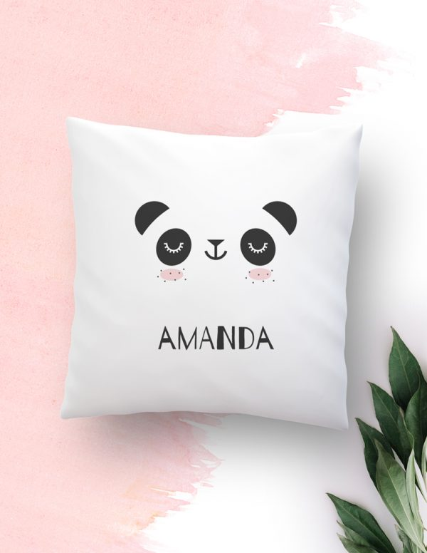 panda, pillow, cojín, baby, kids, deco, cojín personalizado, animal lovers