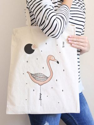 Tote bag Flamingo
