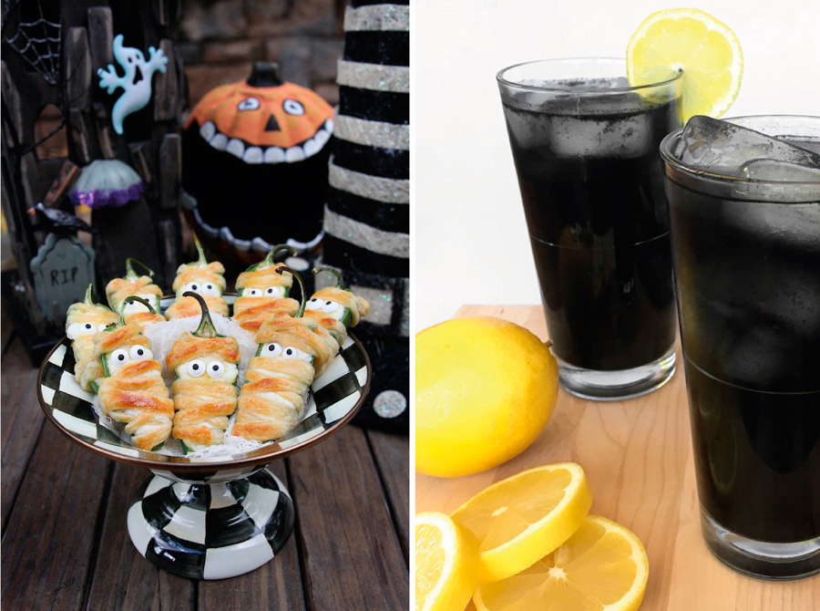 halloweenfood, food, halloween, inspiración halloween, inspiration halloween, decoración halloween, decoración, deco, party, fiesta, fiesta halloween, black lemonade, jalapeños, momias
